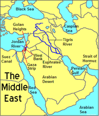 Map Of Asia Euphrates River.Social Studies Sw Asia