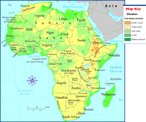 Map Of Africa With Rivers And Mountains | Jackenjuul